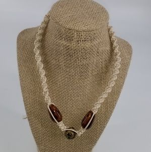 Mens Cream Necklace
